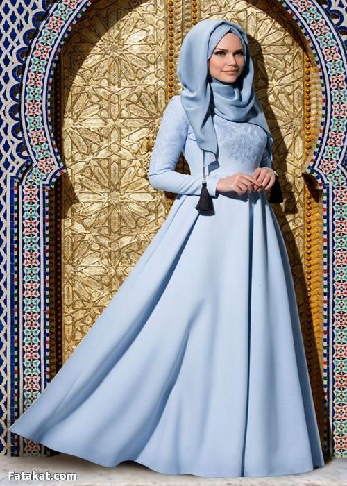 فساتين محجبات 2016 احدث الفساتين