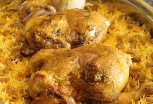 طريقة تحضير مجبوس الدجاج المميز