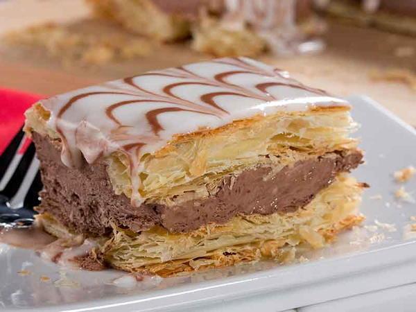 طريقة نابليون بالشوكولا سريع لذيذ