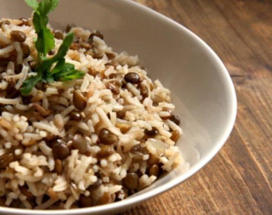 طريقة تحضير مجدرة الرز العدس