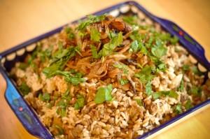 طريقة تحضير مجدرة الأرز اللبنانية