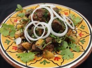 طريقة تحضير البطاطس باللحم الكزاخستاني