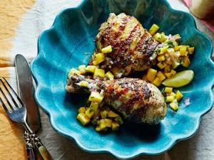 دجاج مشوي بالشواية الكهربائية منال