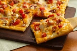 بيتزا الدجاج بيتزا المنزل منال