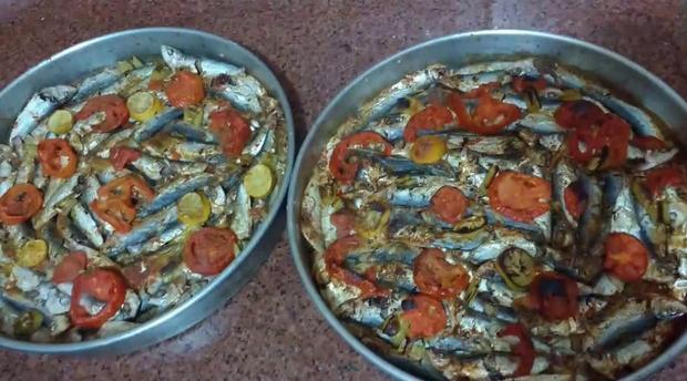 السردين بالأرز بالفرن الطريقة المغربية