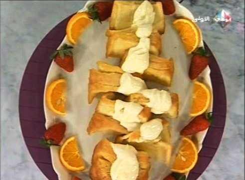 طريقة كيكة البرتقال صلصة الجبن