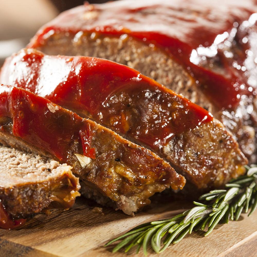 قالب اللحم بالكاتشاب الروزماري منال