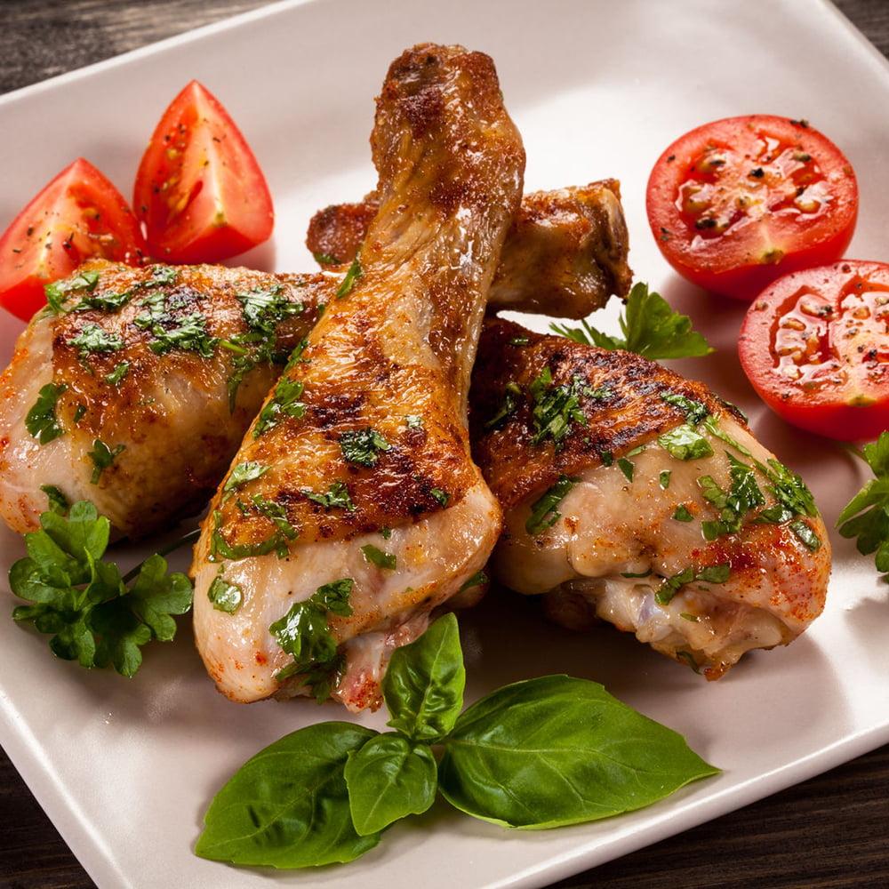 الدجاج المشوي بالبرتقال الريحان منال