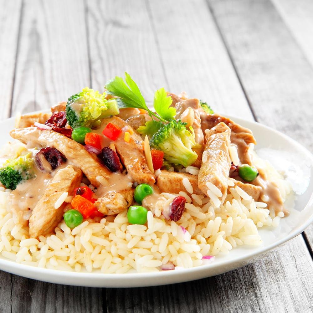الدجاج الأرز الخضار منال العالم
